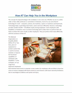 How AT Can Help You in the Workplace cover
