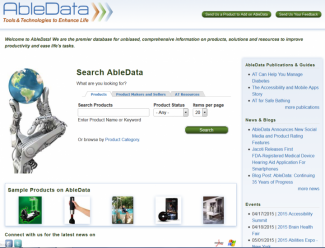 Screenshot of AbleData.com