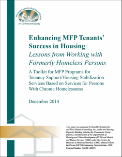 Enhancing MFP Tenants' Success in Housing: Lessons from Working with Formerly Homeless Persons Cover