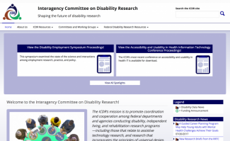 ICDR website homepage