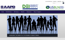 Screenshot of Disability Equality Index (DEI) Website