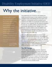 Disability Employment Initiative (DEI) Why the Initiative Fact Sheet