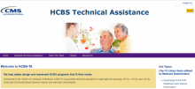 Screenshot of HCBS Technical Assistance web site homepage