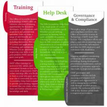 Tabbed inserts: Training, Help Desk, Governance and Compliance