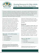 Housing Resources for Older Adults fact sheet