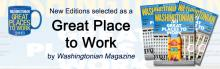 New Editions selected as a great place to work by Washingtonian magazine